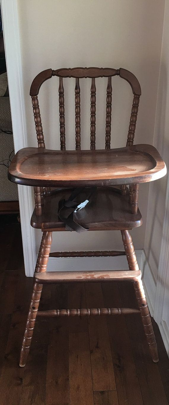 Antique Jenny Lind Wood High Chair Purchase As Is Or