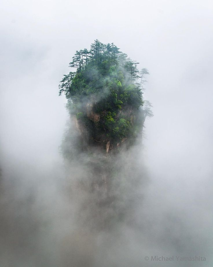 """Photograph by Michael Yamashita. @yamashitaphoto: The otherworldly cliffs of China's Zhangjiajie National Forest Park were the real world inspiration for…"""