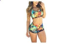 Groupon - SHH Womens Emoji Push Up Halter Bikini Bra Set Swimsuit. Groupon deal price: $14.99