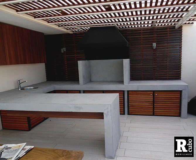 Quinchos und Muebles Hormigón Tische Beton #pergola