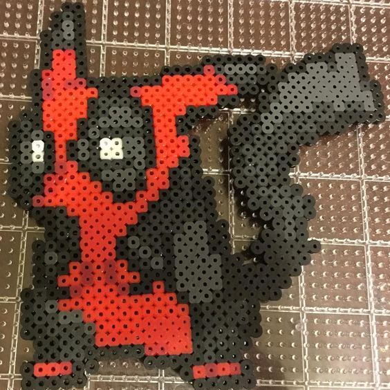 Deadchu... or is it Pikapool? by perler_purrs #Deadpool #Pikachu #Pokemon