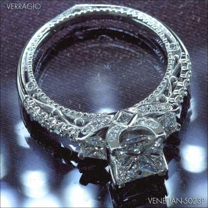 Verragio VENETIAN-5023P-1 engagement ring, enhance a princess diamond center, Verriago, Dream Ring, love it  www.verragio.com/...