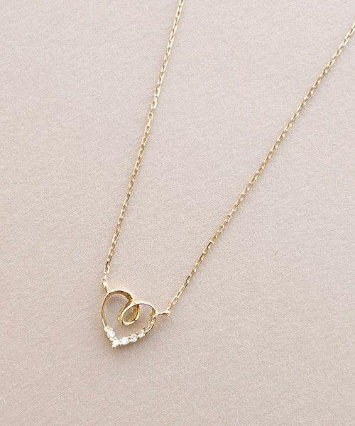 JUPITER(ジュピター)のinfinity heartネックレス(K18YG)(ネックレス)|ゴールド