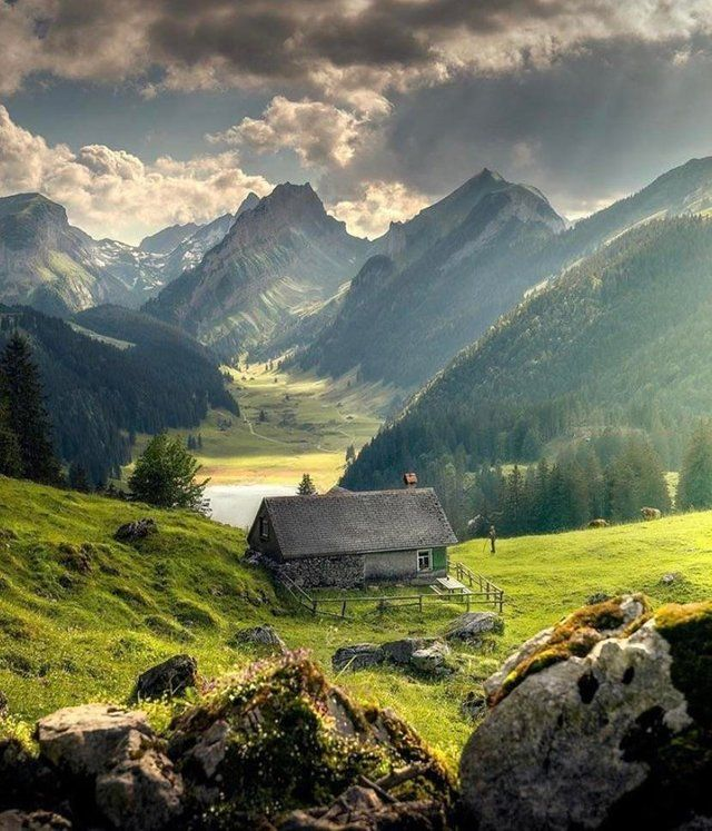 Breathtaking Scenery Around This Cabin In Switzerland Mostbeautiful Beautiful Landscapes Beautiful Places Scenery