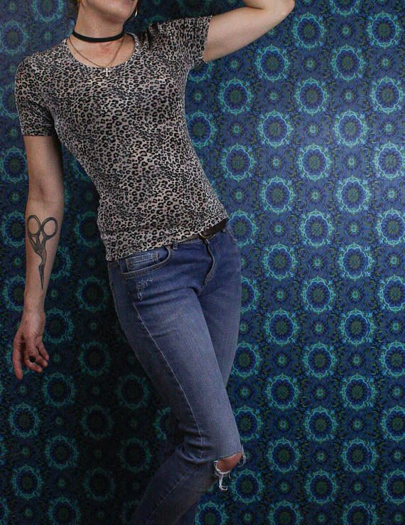 90's Leopard Top in my @Etsy shop https://www.etsy.com/ca/listing/592121759/90s-leopard-top-animal-print-stretchy