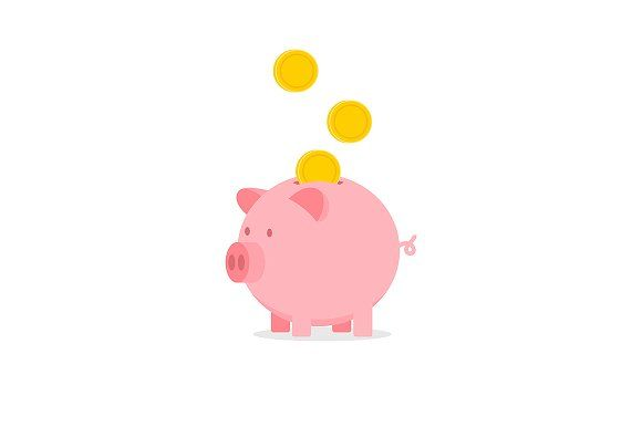 Piggy Bank With Falling Coins Coin Icon Piggy Bank Icon Illustration