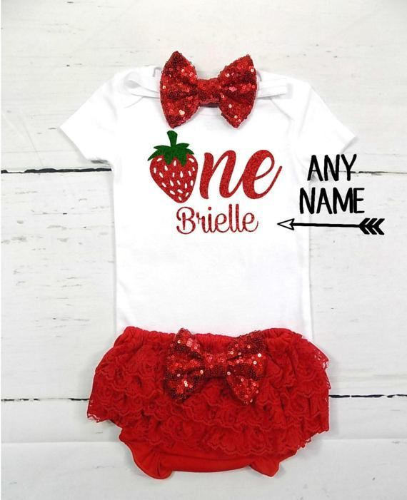 Berry First Birthday Outfit Baby Girl