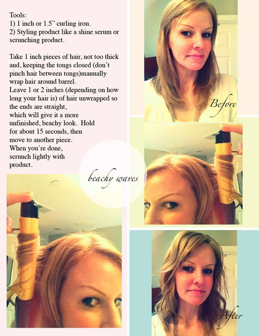 how to make loose beachy waves with a curling iron