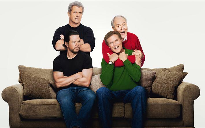 Download imagens Daddys Casa 2, 2017 filme, John Lithgow, Will Ferrell, Mel Gibson, Mark Wahlberg