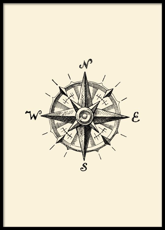 Compass, poster in the group Posters & Prints at Desenio AB (8516)