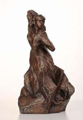 Otto Gutfreund (1889 - 1927), Toaleta (návrh 1911), bronz, výška 43,6 cm