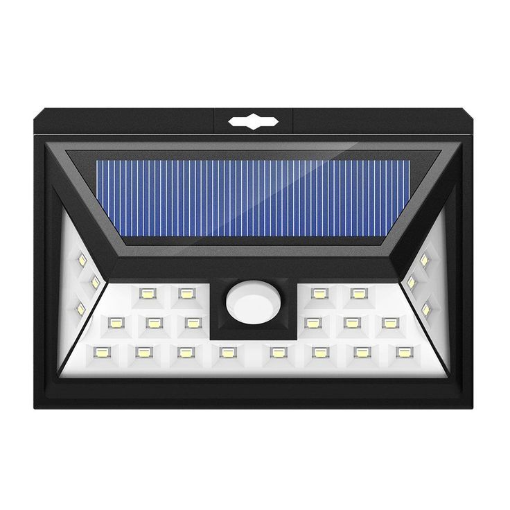 Outdoor Solar Powered Security Light Wide Angle Motion Sensor with 24 LED Source Light (Solar-powered Light), Black (Plastic)