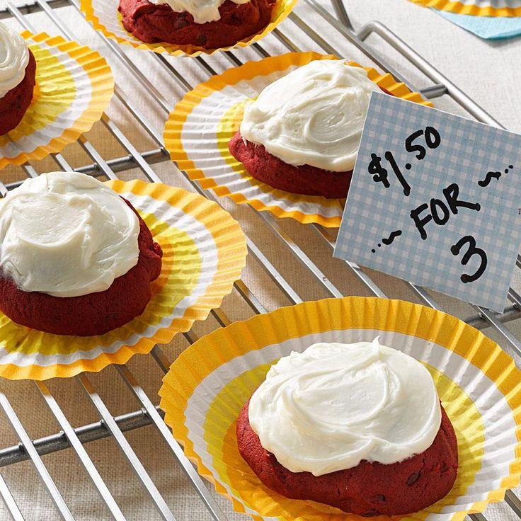 Frosted Red Velvet Cookies Recipe Red velvet cookies
