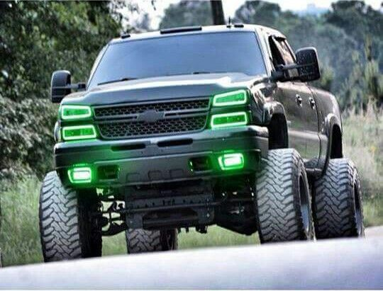 chevy truck, like the lights