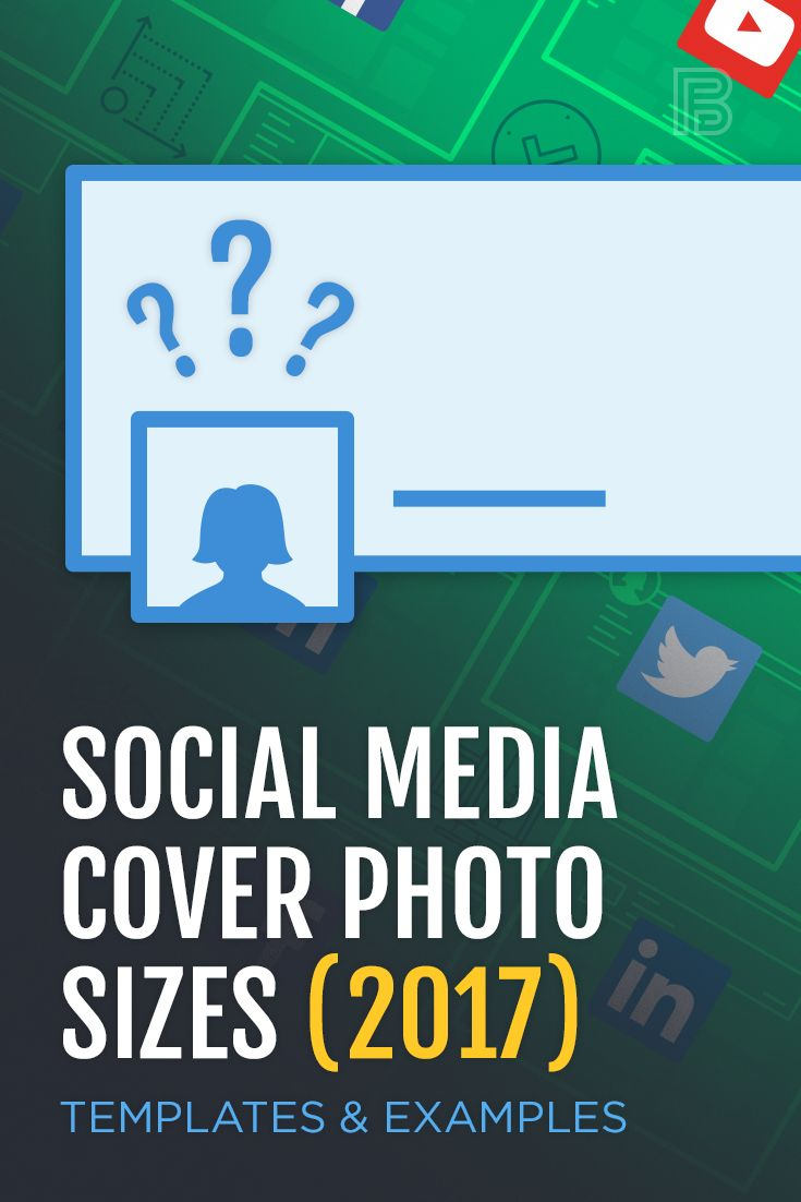 Here are the best cover photo sizes for Facebook, Twitter, Google+, LinkedIn, and YouTube. #socialmediatips #coverphotos #visualcontent
