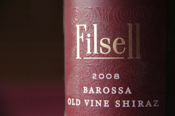 Wine label- Grant Burge, Filsell 2008 Shiraz, Barossa Valley, South Australia.  A deliciously ripe and rich red wine, a wonderful combination with metaballs.