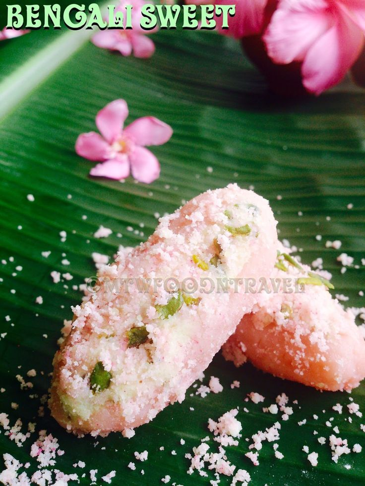 My Tryst With Food And Travel: CHUM CHUM BENGALI SWEET ~ PINK FOR OCTOBER SERIES