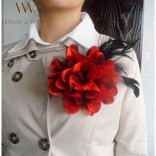 Новый Цветок Перо Брошь Аксессуары Для Волос Свадебный Корсаж Крупные Броши для Женщин и Мужчин Броши Ювелирные Изделия Руч 2XZ12(China (Mainland))