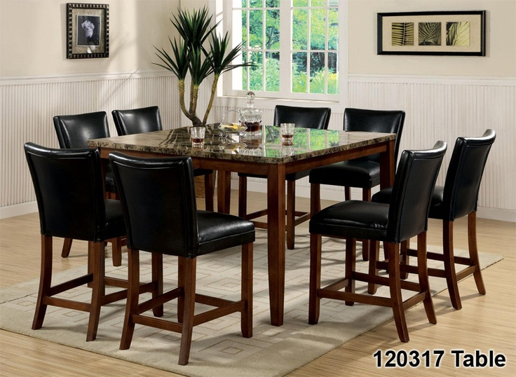 Counter Height Dining Table U0026 Stools Set Cherry Finish   Click Pics For  Price