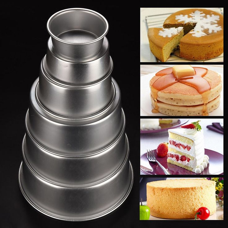 4/5/6/8/9/10inch Aluminum Alloy Nonstick Round Cake Pan Baking Mould Bakeware #Unbranded