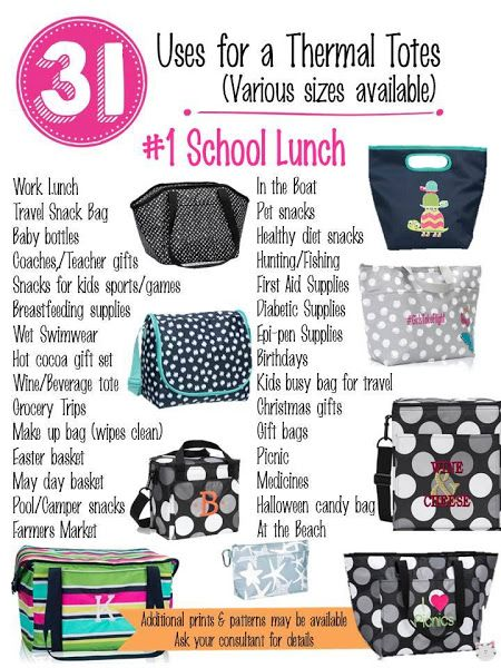 31 Uses for Thirty-One Thermals! #Carrie31Bags www.mythirtyone.com/MaylinBE