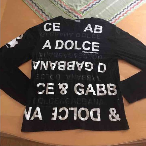 Dolce & Gabana Shirt Black color selling for friend, took tag off and never wore, sitting in closet this whole time Dolce & Gabbana Tops