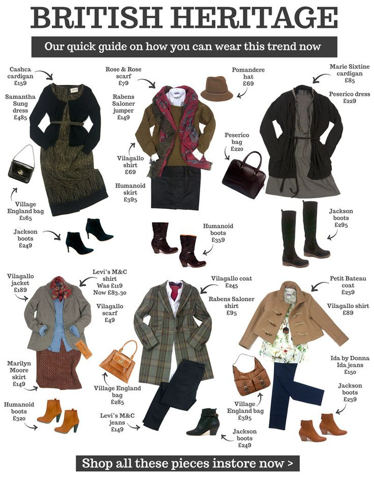 British Heritage Fashion trend autumn winter 2013 outfit ideas