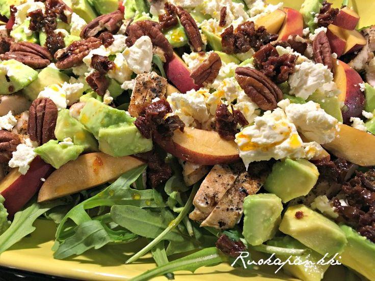 Ruokapankki: Kananektariinisalaatti #ruokapankki #ruokablogi #ruoka #resepti #salad #salaatti #food