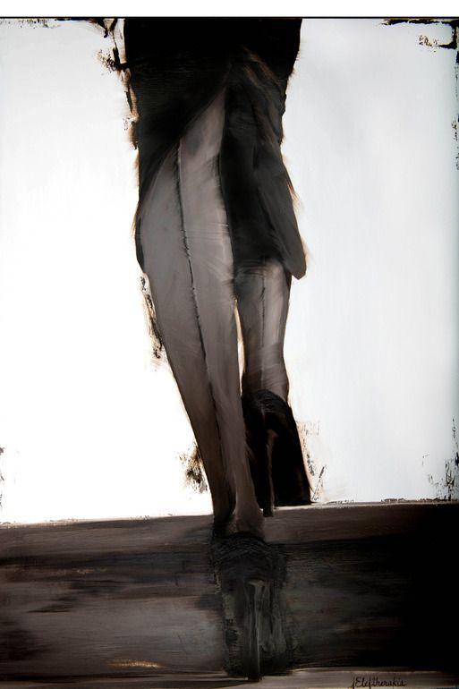 "Saatchi Online Artist: Janel Eleftherakis; Oil 2013 Painting ""Sepia Series #5 (SOLD ON Saatchi Online)"""