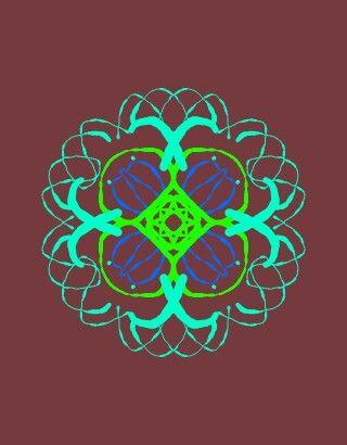 Květinová mandala