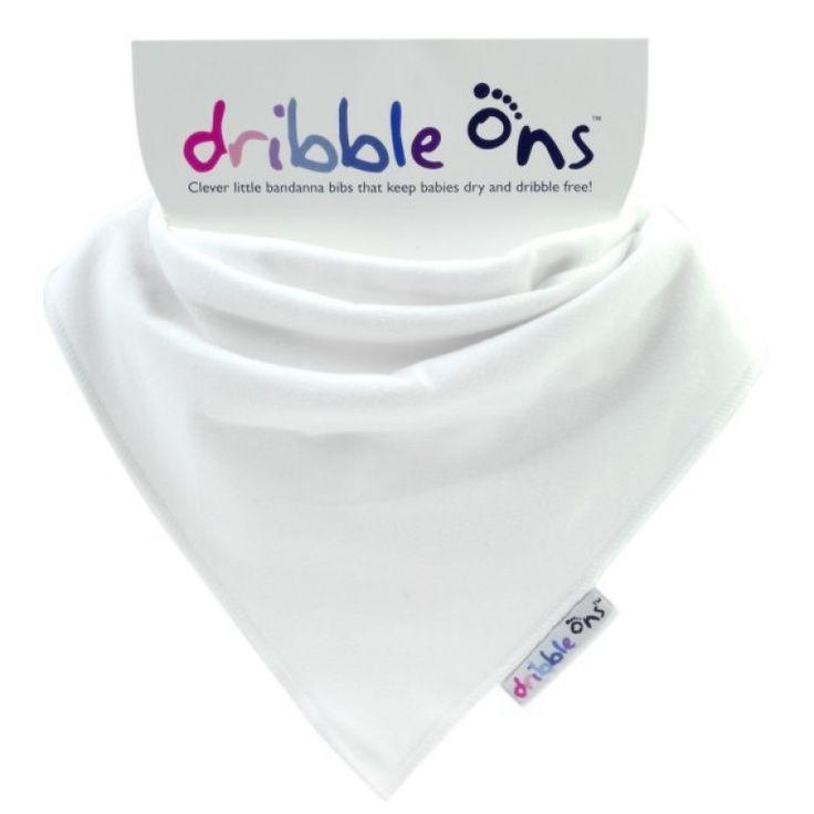 Dribble Ons Dribble Bib White