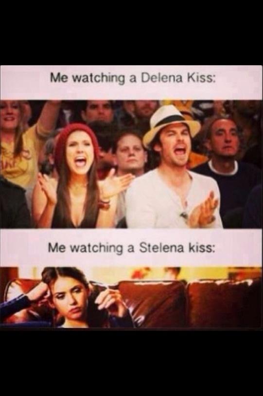 Damon and Elena kisses r better! Lol!