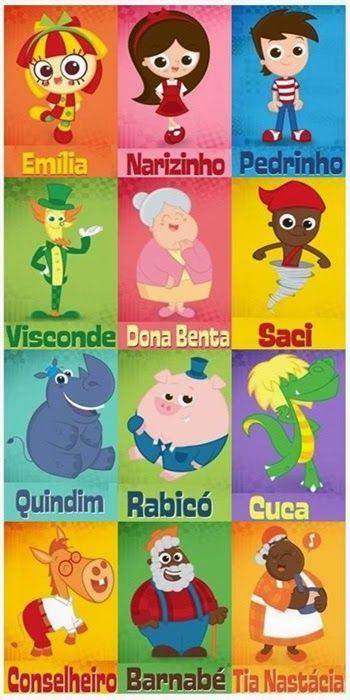 Personagens sítio do pica-pau-amarelo - Dia do livro infantil