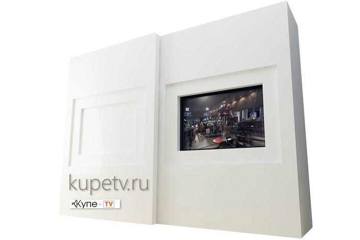 Встроенный шкаф-купе с нишей под телевизор