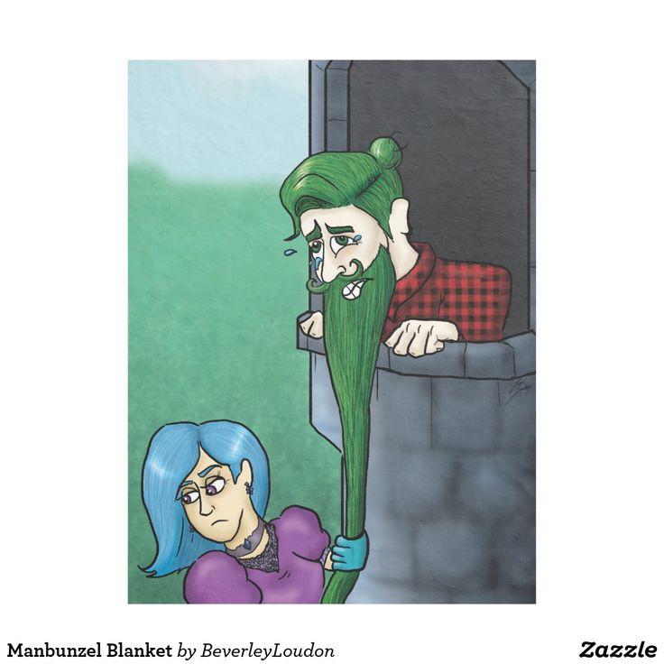 Manbunzel Blanket