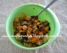 Clube da Papinha: Papinha de grão de bico e batata doce com carne