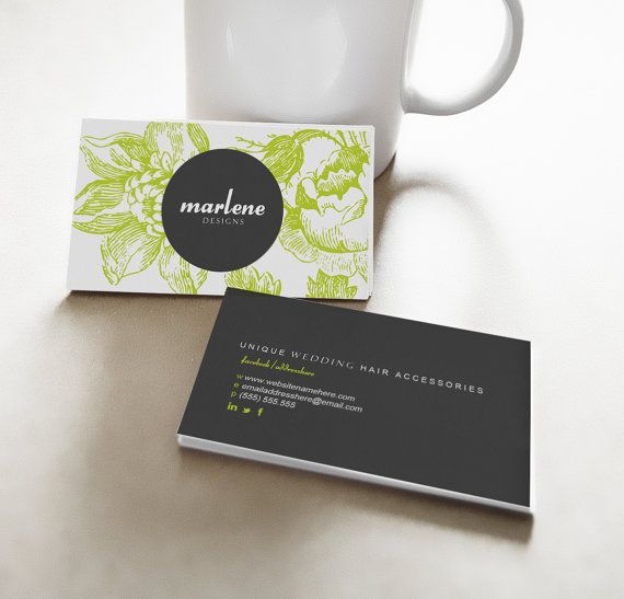 Marlene double sided business card  Instant Download by deideigraphic
