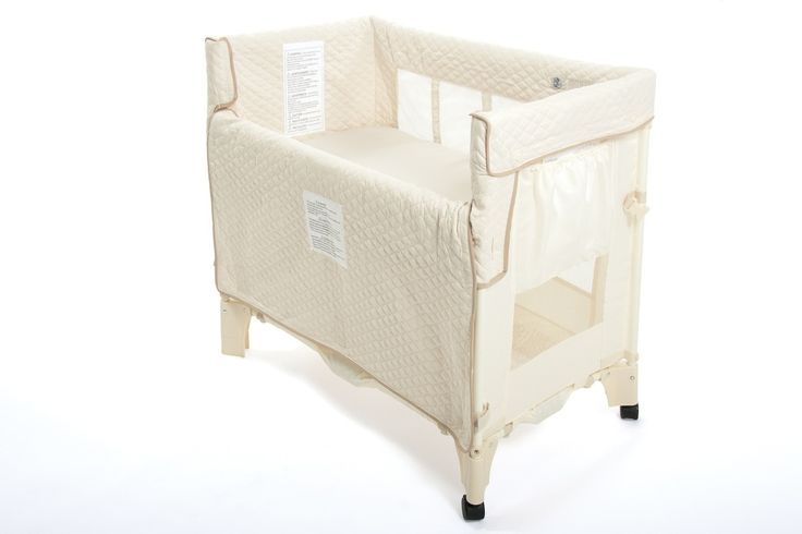 """Arm's Reach Mini Co-Sleeper Bassinet"" - Natural or Tan.  These can be found on Craig's List too :-)"