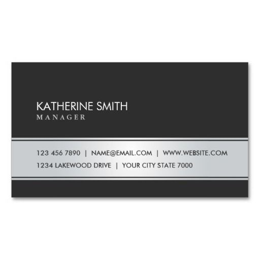300 best simple elegant business cards images on pinterest elegant professional elegant plain simple black and silver business card colourmoves