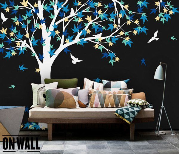 Large Maple Tree vinyl decal - 45+ Beautiful Wall Decals Ideas  <3 <3