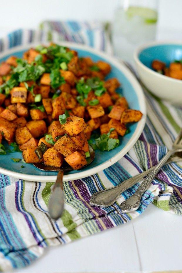 Sweet Potato Home Fries l www.SimplyScratch