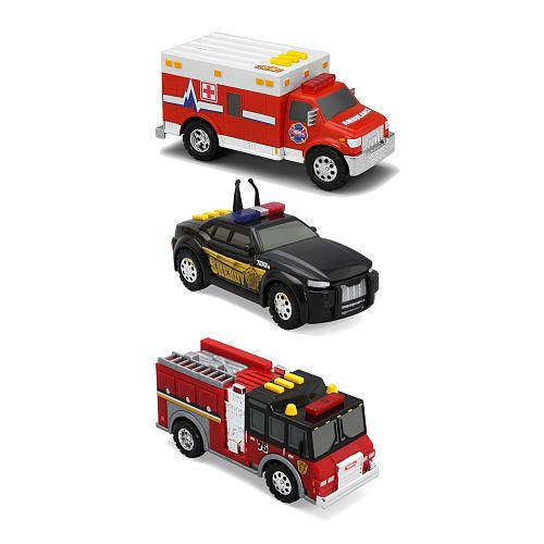 Tonka 3 Pack Vehicles Ambulance Sheriff Cruiser Fire