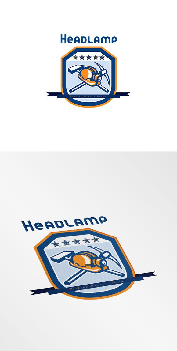 Check out Headlamp Miner Workers Union Logo by patrimonio on Creative Market
