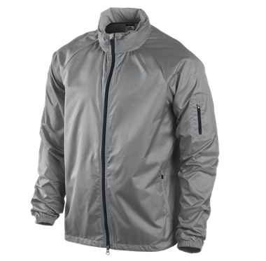 Nike Ripstop Men's Running Jacket: designed for runners who don't let a little wind and rain hold them back. $90.00