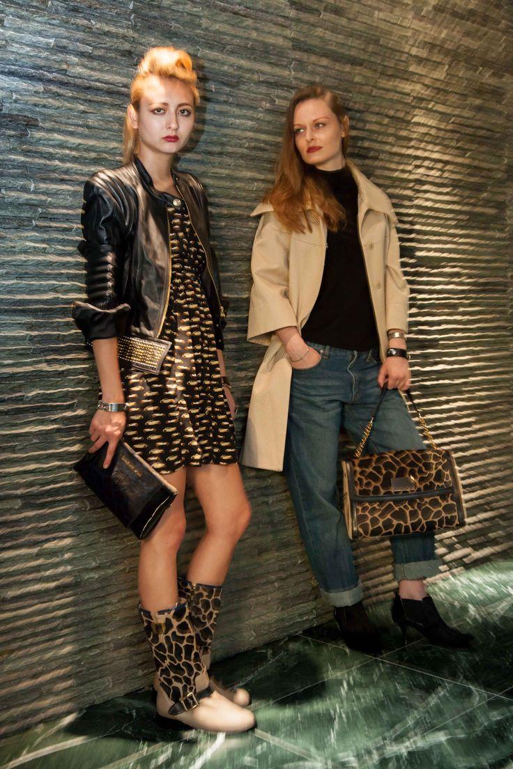 VanCliffe Dean hits Japan with a Giraffa Print BANG! #bags #shoes #boots #VCD #Japan #models www.vcdltd.com