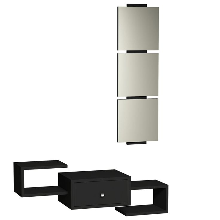 Wall console Dorado Coat with black mirror