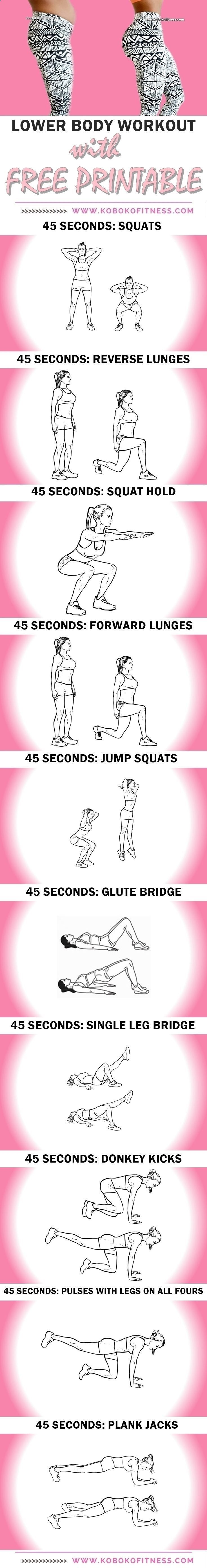 You get the best lowerbody workout. Thigh workout and butt workout all in one and youre done in 10 minutes. AWESOME butt and thigh workout with printable http://www.weightlosejumpstart.org/weight-loss-exercise-rules/