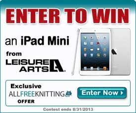 Win an iPad Mini with AllFreeKnitting and Leisure Arts!  The perfect crafting companion!