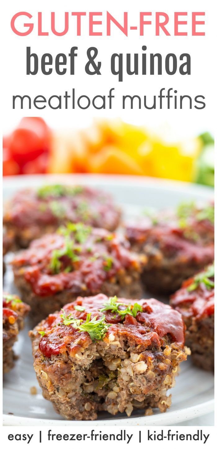 Beef Quinoa Bbq Meatloaf Muffins Haute Healthy Living Recipe In 2020 Bbq Meatloaf Healthy Freezer Meals Meatloaf Muffins