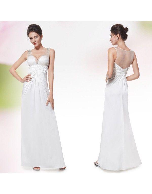 jednoduché svatební společenské šaty Sidoa L - Hollywood Style E-Shop